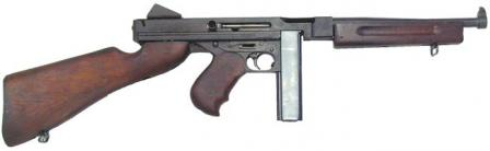 Thompson M1 submachine gun with 20-round magazine.