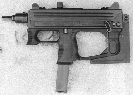 Ruger MP9 со сложенным прикладом.