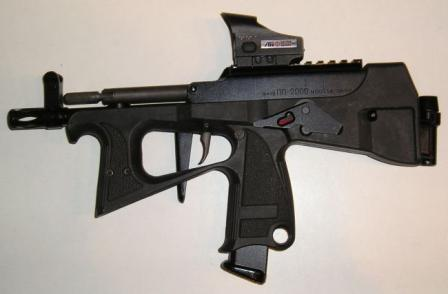PP2000, current production version with detachable folding butt, left side.