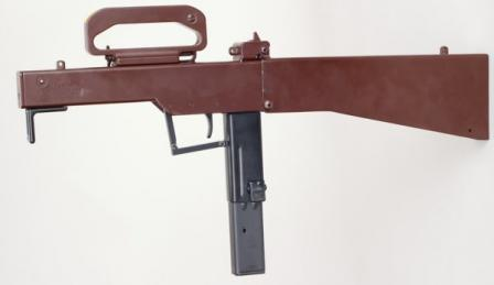 M-21 submachine gun ready to fire.