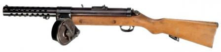Bergmann / Schmeisser MP-18/I submachine gun, with 32-round snail drum magazine.