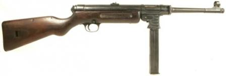 Haenel / Schmeisser MP-41 submachine gun, right side.