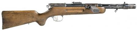 Bergmann MP-35 submachine gun, right side view.