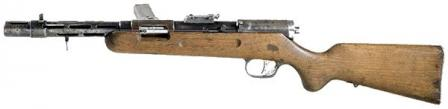 Bergmann MP-35 submachine gun, left side view.