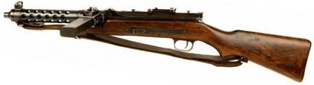 Steyr MP-34 makineli tüfek, sol taraf.