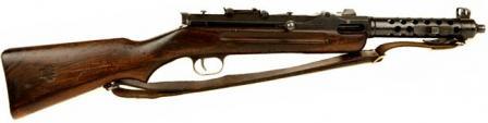 Steyr MP-34 makineli tüfek, sağ taraf.