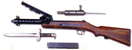 Steyr MP-34, kısmen demonte.