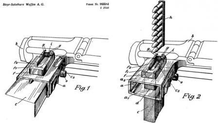 S1-100 ayrılmaz dergi yükleme cihazı kapsayan orijinal patent çizimi.