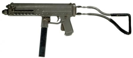 Franchi LF-57 submachine gun, left side.