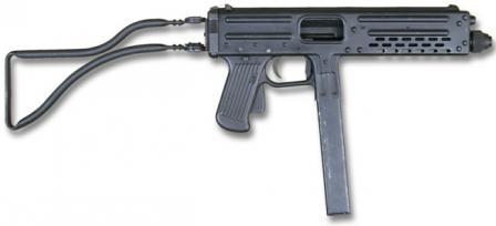 Franchi LF-57 makineli tabanca, sağ taraf.