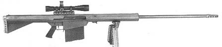 This probably is the image of the M82 - the earliest Barrett .50 caliber rifle.