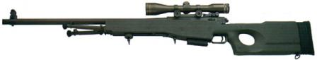 British Army L96A1 sniper rifle.