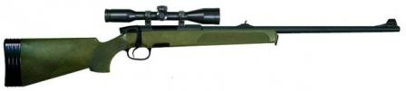 Steyr-Mannlicher SSG 69 sniper rifle, original military version with green stock and back-up iron sights.