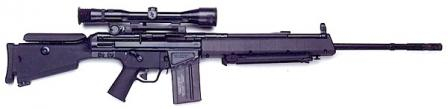 HK MSG-90A1, a modified design for US DMR (Designated Marksman Rifle) program.