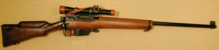 Enfield L42A1 military sniper rifle.