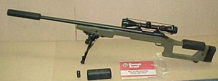 Savage mod. 10FP with Choate Ultimate Sniper stock and detachable silencer.