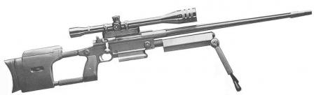 Research Armament Model 300 rifle.