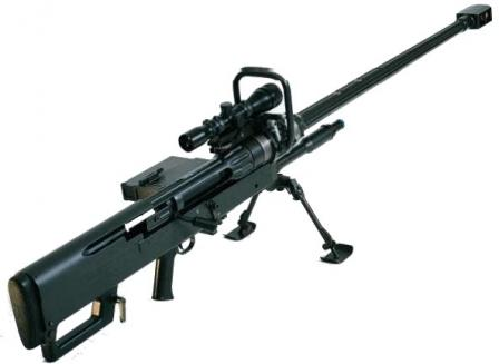 NTW-20 anti-materiel rifle, with 20mm barrel.