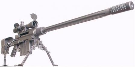 CheyTac Intervention .408 caliber M100 sniper rifle.