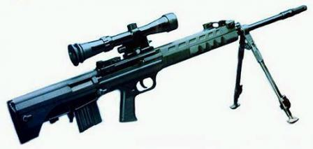 QBU-88 sniper rifle, withdetachable bipod and telescope sight.