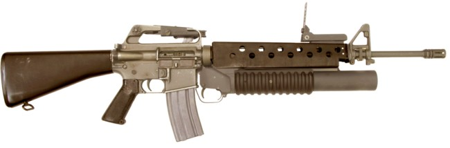 M16A1 rifle with M203 40mm grenade launcher