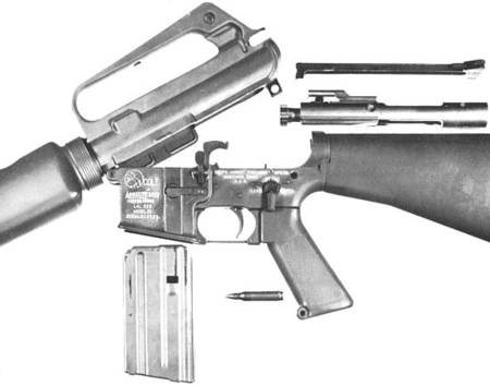 See the M16A1 field-stripping