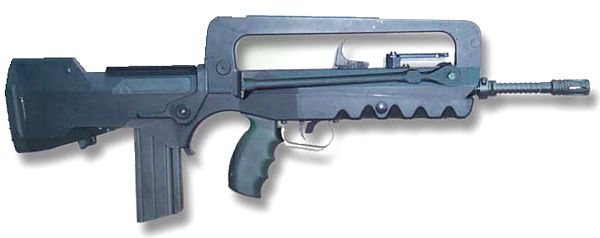 FAMAS F1 (original version). Note original straight FAMAS magazine that holds 25 rounds