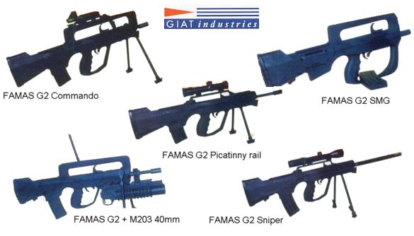 Modifications of the FAMAS G2, now available from GIAT Industries