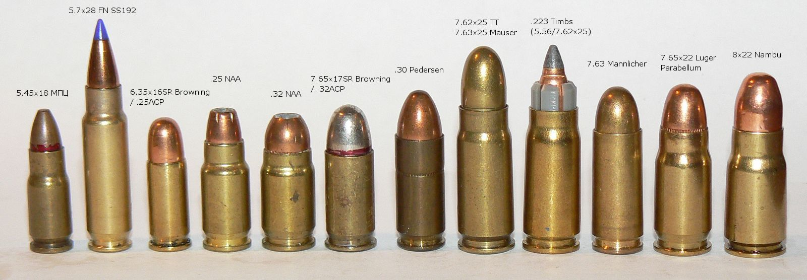 Ammunition for semi-automatic pistols and submachine guns