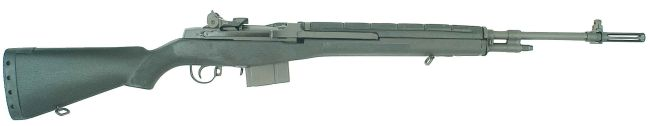 Springfield M1A semi-automatic rifle with polymer stock and 10-rounds magazine.