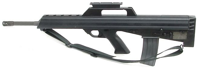 Bushmaster M-17s rifle, left side view.