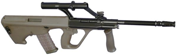 Steyr AUG A1 in standard rifle configuration (military green colour)