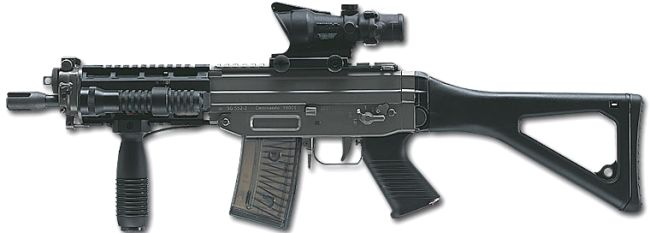 SIG SG 551 SWAT shortassault rifle for police/special forces use,
