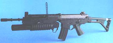 Bofors AK5 with M203 grenade launcher