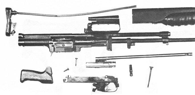 EM-2 disassembled into major components.