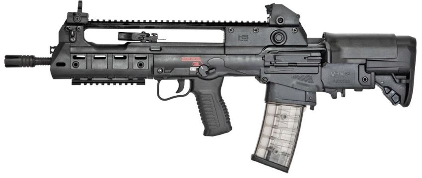 VHS K2 compact Assault Rifle with basic iron sights and top mounted Picatinny rail