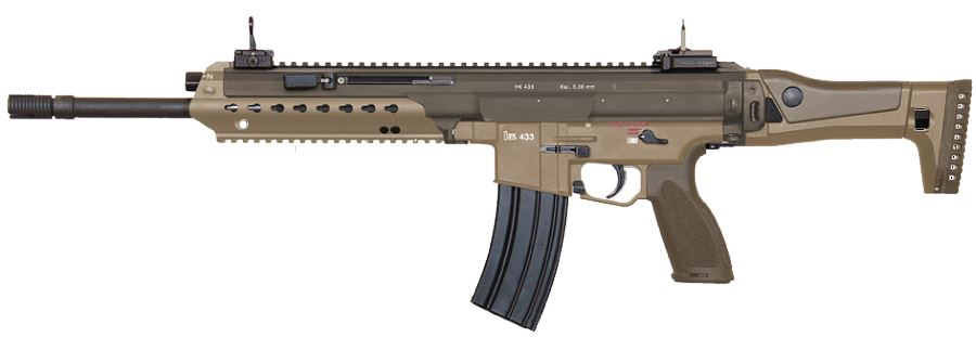 Heckler Koch HK433 Assault Rifle In Desert Colors And
