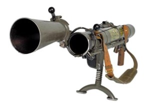 Carl-Gustaf M2 recoilless rifle / launcher with the breech open for loading.