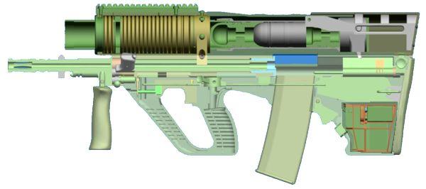 """Калибр: 40 мм (возможны и другие калибры) Тип: с тандемным расположением гранат в стволе-магазине по схеме  """"римская..."""