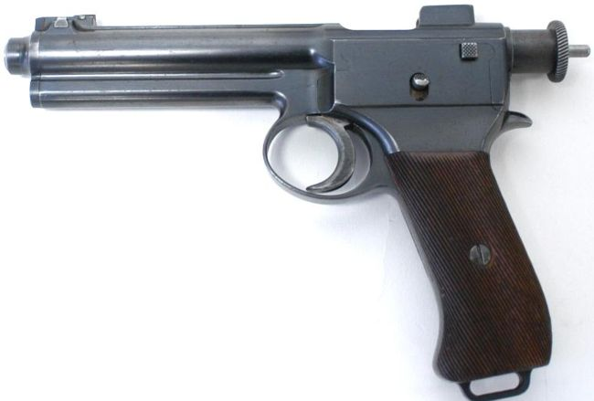 Roth M.7 (model 1907) self-loading pistol, left side.