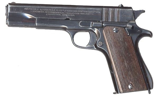 Ballester-Molina pistol, left side.
