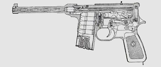 Type 80 modern firearms cross section diagram of the type 80 pistol ccuart Image collections