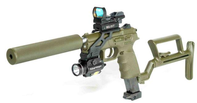 silencers for handguns. silencer, red-dot sight