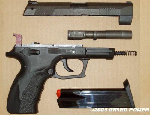 УСМ: двойного действия Калибр: 9х19 мм Люгер/Парабеллум Вес без патронов: 740 г Длина: 203 мм Длина ствола...
