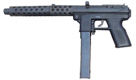 Intratec DC-9 pistol with screw-on barrel extension (fake ...