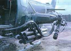 M134 Minigun on the UH-1 Iroquis attack helicopter (Vietnam)