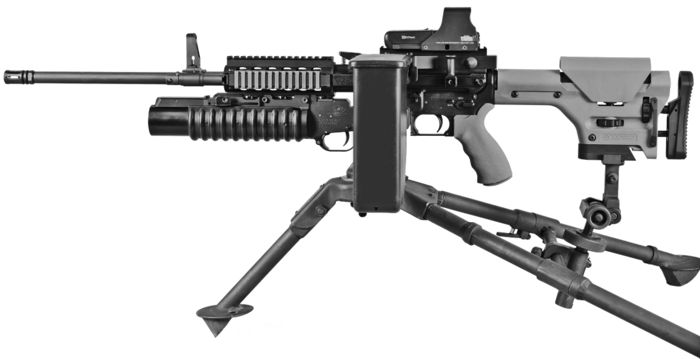 Ares Shrike light machine gun