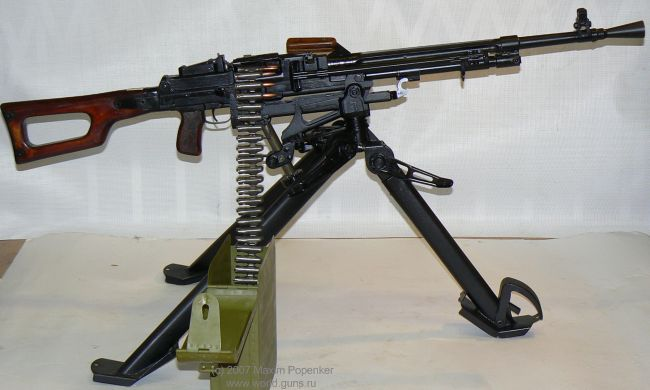 The 7,62x54R Nikitin PN machine gun, from pre-production batch made in 1960 for final troops trials. This gun was almost adopted by Soviet army but then mysteriously lost final trials to Kalashnikov PK.