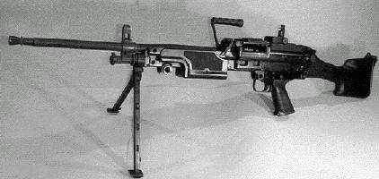 Mk. 48 mod. 0 machine gun prototype - basically an FN Minimi, scaled up from 5.56 to 7.62mm.