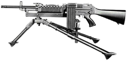 Stoner 63 modern firearms earlier version of stoner 63 light machine gun with left side feed mounted thecheapjerseys Image collections